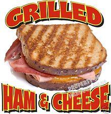 "Grilled Ham & Cheese Decal 14"" Sandwich Concession Food Truck Menu Sticker"