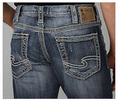New Silver Mens Jeans Grayson Bootcut 32x32