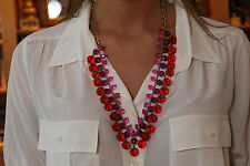 NWOT Kate Spade 'On The Avenue' Long Necklace Pink, Purple & Red Happy Colors!