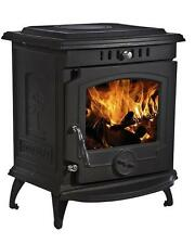 8KW Lilyking 659 Multi-Fuel Matt Black Cast Iron Stove - 3 Year Guarantee