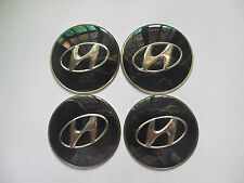 4pcs Wheel Center Hub Cap CAR Tyre Sticker Emblem Badge Decal For Hyundai Black