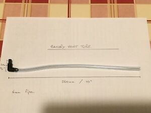 Battery Vent Tube - Breather Pipe - 260mm long 6mm dia - Brand New