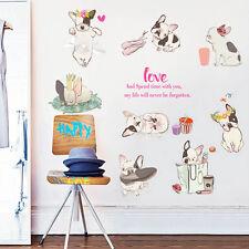 Cartoon 8 Puppy Dogs Wall Sticker DIY Vinyl Decals Home Decor Removable Mural
