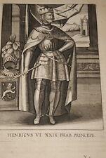 GRAVURE BELGIQUE HENRICUS VI  BRABANT VEEN COLLAERT 1623 OLD PRINT R994