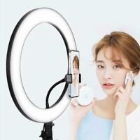 LED Ringlicht Dimmbare Lampe Fotografie Kamera Photo Video Studio Telefon Q2X3
