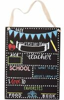 Primitives by Kathy - First Day of School Chalkboard Sign 10.5 X 8 Inches