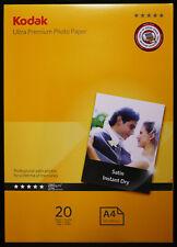 Kodak Ultra Premium A4 Satin Photo Paper : 280GSM, 20 Pack - New