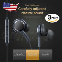 3 Pairs Earbuds For Samsung S8 S9 Plus Note 9 8 Headphones Headset EO-IG955