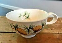 "Vtg Hallcraft Eva Zeisel USA Pinecone Pine Coffee Mug Footed Cup Teacup 2 3/8"""