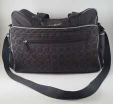 Eddie Bauer Quilted Baby Diaper Bag -  Dark Grey with Changing Pad