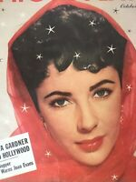 Vintage Collectible Movie Magazine Photoplay Elizabeth Taylor Cover October 1951