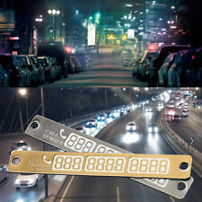 1*Silver Parking Card Telephone Number Card Notice Night Florescent Sucker Plate