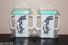 Two New 1994 Baby Bugs Bunny Rabbit Double Handled Plastic Juice Box Holder