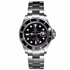 Herrenuhr Armbanduhr Uhr Wasserdicht Edelstahl Stahl Armband Datum Quarz Analog