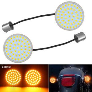 1 Paar 1156 Motorrad LED Blinker Hinten Blinkerschalter Gelb für Harley-Davidson