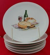 Limoges France  assiettes à fromage décor différents*