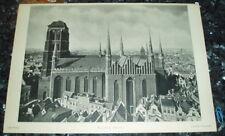 Danzig Rathaus Marienkirche Südseite - Tafel nach Fotografie Ansicht Druck