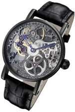 Rougois Tattoo Black Mechanical Automatic Skeleton Watch RS10003