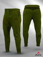 PIMD Trim Khaki Green Mens Gym Bottoms Fitted Joggers Fleece Jogging Sweatpants