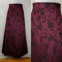 CHETTA B Nordstrom Floral A-line Evening Maxi Dress skirt size 6 Tulle glitter