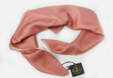 Corneliani Mens 100% Silk Scarf Pink Square Neck Foulard Scarf Made in Italy NWT