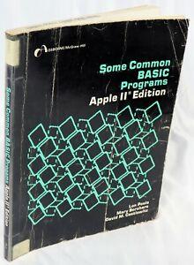 Apple II IIe IIc IIgs Some Common BASIC Programs Apple II Edition from a Library