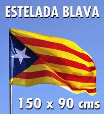 Bandera catalana Estelada Blava 150 x 90 cms. Vaina + betes. NOVA !!