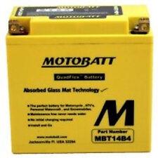 New MBT14B4 MotoBatt Sealed QuadFlex 12V Motorcycle YT14B Replacement Battery