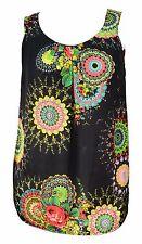 Womens New Sleeveless T Shirt Tops Size 16 - 26 Fab Prints Ladies Wear *LICK*