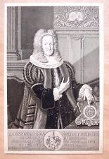 Eau-forte, Portrait de Johann Siegmund Holzschuher, Ecole allemande,XVIIIe