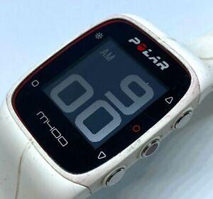 Polar M400 Mens Black White Digital GPS Fitness Tracker Quartz Smart Watch Hours