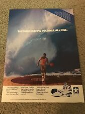 Vintage 1988 CONVERSE CONS ENERGY WAVE Poster Print Ad 1980s Basketball Shoes