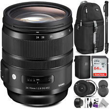 Sigma 24-70mm f/2.8 DG OS HSM Art Lens for Canon EF with Sigma USB Dock Bundle