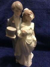 "Lladro ""Bride And Groom ~ Wedding Bells�. #06164"