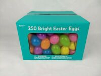 Easter Eggs 250 Count Plastic Bright Colored Egg Hunt Party Candy Decoration NEW