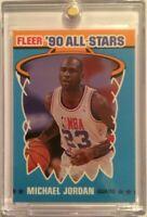 Michael Jordan 1990 Fleer '90 All-Stars Card #5 Chicago Bulls basketball NM-MT
