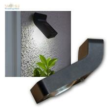 Solar Wall Light, Small Black Wall Lamp, 1 White LED with Dusk Sensor