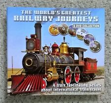 The World's Greatest Railway Journeys 6 DVD Collection in Folder - NEW