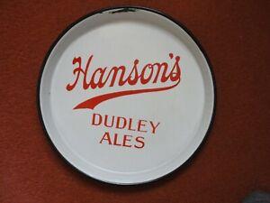 antique dudley ales hansons brewery enamel metal beer tray worcestershire