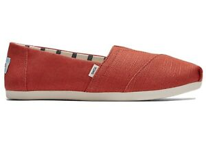 Toms Women's Red Clay Heritage Canvas CloudBound Alpargata Slip On Shoes US 5.5