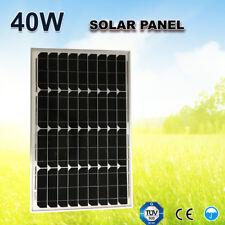 40w 12v Solar Panel Kit Portable Mono Caravan Camping Home Power Battery Charger