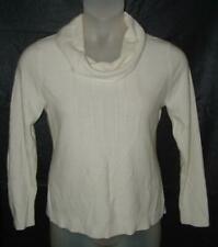 Ivory White XL 16 18 Petite Church Office or Casual Dress Soft Cowl Neck Sweater
