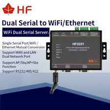 HF2221 Industrieller Modbus 2Port serieller Server RS232 / RS485 / RS422  WiFi