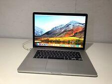 "Apple MacBook Pro Retina 15"" 2015 Intel Core i7 Quad Core 2.2Ghz 16GB 256GB SSD"