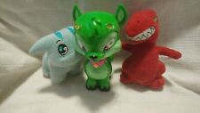Vintage Neopets Lot of 3 McDonalds plush toys 2 thinkways interactive green toy