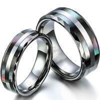 Tungsten Carbide Women /Men Wedding Engagement Ring Band Set Never Tarnish SR110
