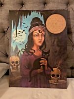 """Disney World """"Witch of Walpurgis"""" Haunted Mansion Sinister 11 Giclee RARE Prop"""