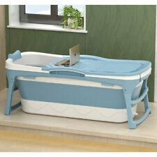 More details for folding plastic bathtubs shower bath tank adults kids soaking with cover lid uk