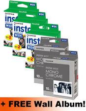 Fujifilm instax amplia película 80 disparos Pack (60 Color + 20 Mono) + Álbum De Pared Gratis