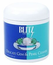 NEW BLITZ USA DELICATE GEM & PEARL CLEANER, NON-TOXIC, 8 FL OZ